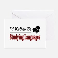 Rather Be Studying Languages Greeting Card