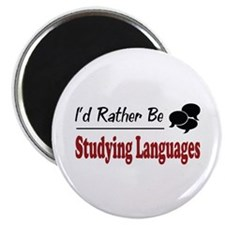 Rather Be Studying Languages Magnet