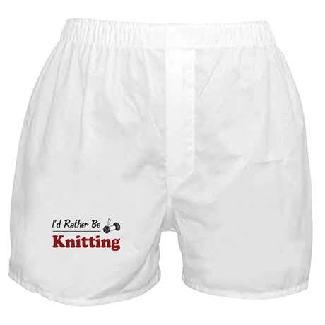 Rather Be Knitting Boxer Shorts