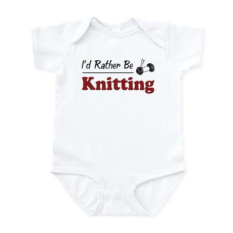 Rather Be Knitting Infant Bodysuit