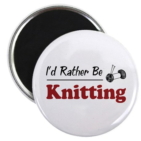Rather Be Knitting Magnet