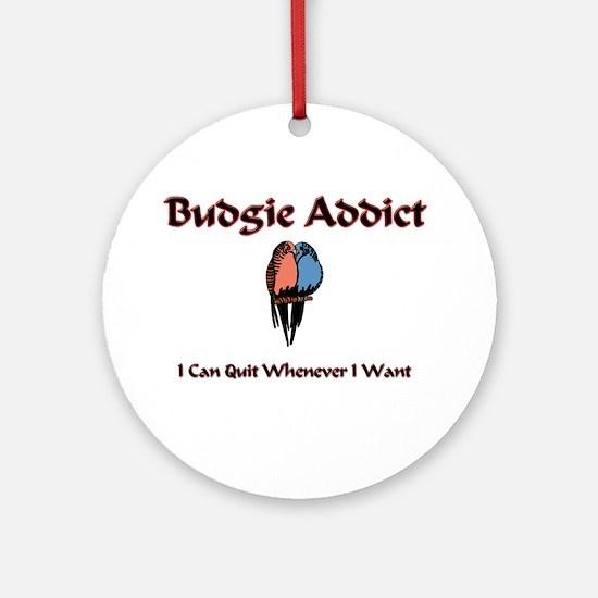 Budgie Addict Ornament (Round)