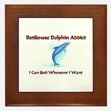 Bottlenose Dolphin Addict Framed Tile