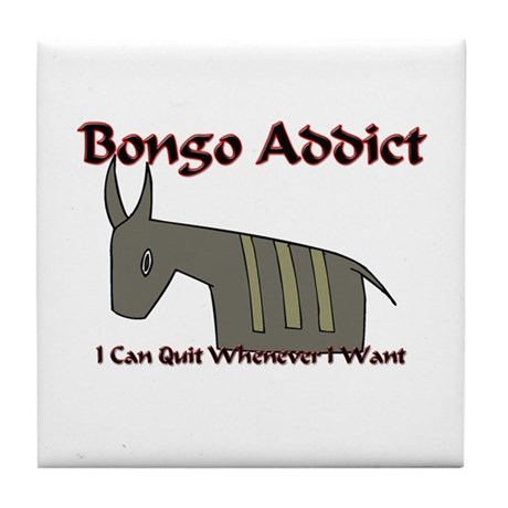 Bongo Addict Tile Coaster
