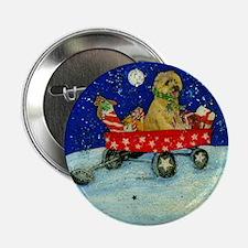 """Winter Cairn Terrier 2.25"""" Button"""