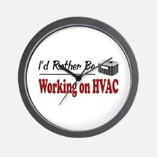 Rather Be Working on HVAC Wall Clock