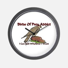 Birds Of Prey Addict Wall Clock