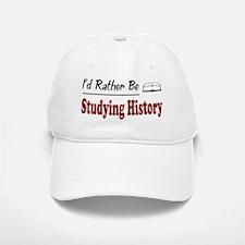 Rather Be Studying History Baseball Baseball Cap