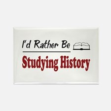 Rather Be Studying History Rectangle Magnet