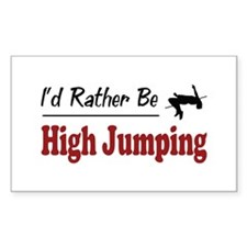 Rather Be High Jumping Rectangle Sticker 10 pk)