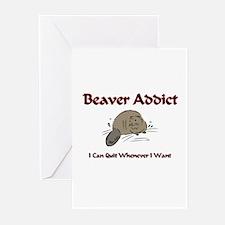 Beaver Addict Greeting Cards (Pk of 10)