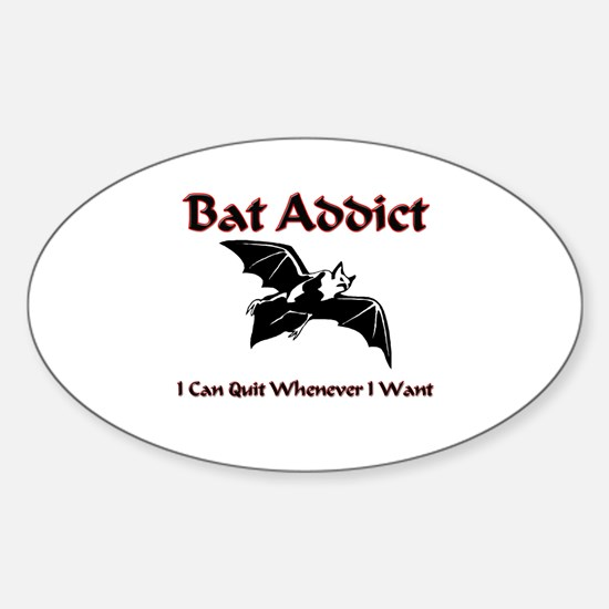 Bat Addict Oval Decal