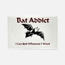 Bat Addict Rectangle Magnet