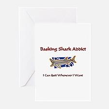 Basking Shark Addict Greeting Cards (Pk of 10)