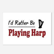 Rather Be Playing Harp Postcards (Package of 8)