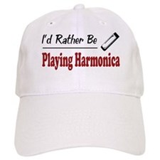 Rather Be Playing Harmonica Baseball Cap