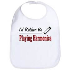 Rather Be Playing Harmonica Bib