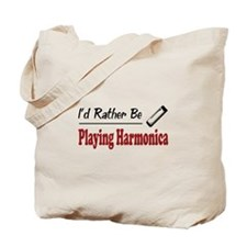 Rather Be Playing Harmonica Tote Bag