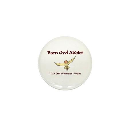 Barn Owl Addict Mini Button