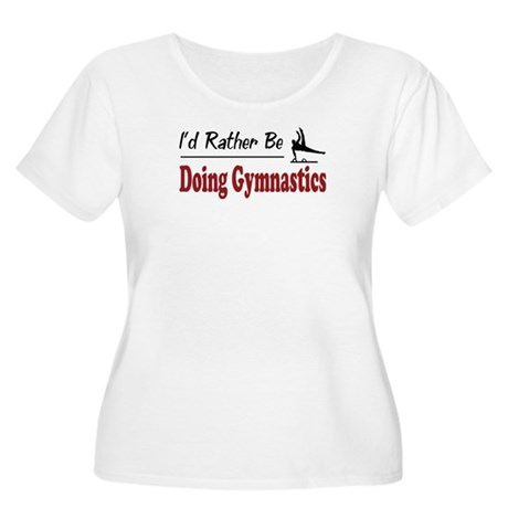 Rather Be Doing Gymnastics Women's Plus Size Scoop