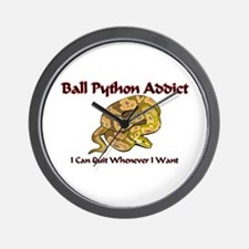 Ball Python Addict Wall Clock