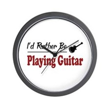 Rather Be Playing Guitar Wall Clock