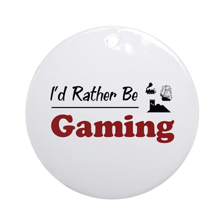 Rather Be Gaming Ornament (Round)