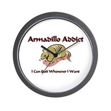 Armadillo Addict Wall Clock