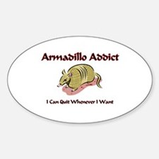 Armadillo Addict Oval Decal