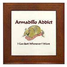 Armadillo Addict Framed Tile