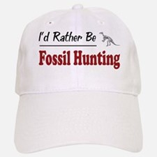 Rather Be Fossil Hunting Baseball Baseball Cap
