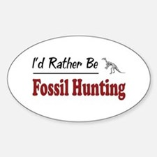 Rather Be Fossil Hunting Oval Stickers