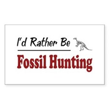 Rather Be Fossil Hunting Rectangle Decal