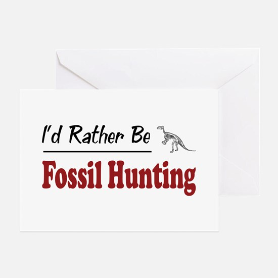 Rather Be Fossil Hunting Greeting Card