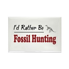 Rather Be Fossil Hunting Rectangle Magnet