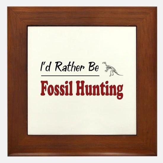 Rather Be Fossil Hunting Framed Tile