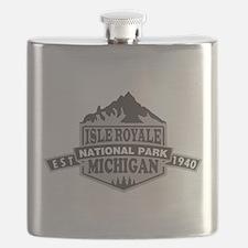 Isle Royale - Michigan Flask