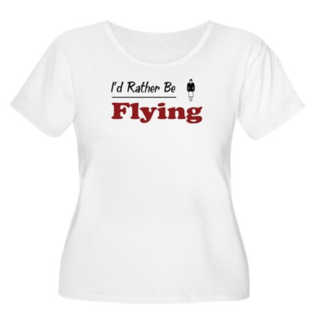 Rather Be Flying Women's Plus Size Scoop Neck T-Sh