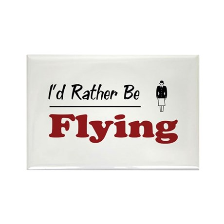 Rather Be Flying Rectangle Magnet