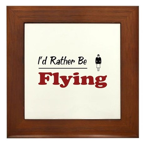 Rather Be Flying Framed Tile