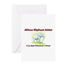 African Elephant Addict Greeting Cards (Pk of 10)