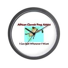 African Clawed Frog Addict Wall Clock