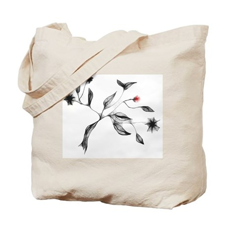 Delicate Leaves Graphic Tote Bag