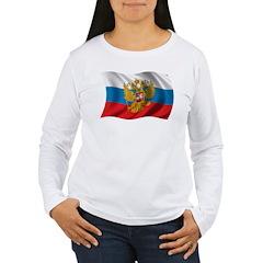 Wavy Russia Flag T-Shirt