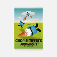 Garden Gnome Tippers Rectangle Magnet