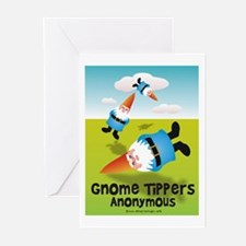 Garden Gnome Tippers Greeting Cards (Pk of 10)