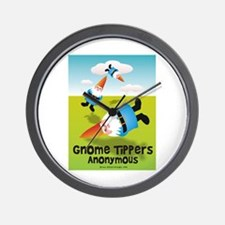 Garden Gnome Tippers Wall Clock