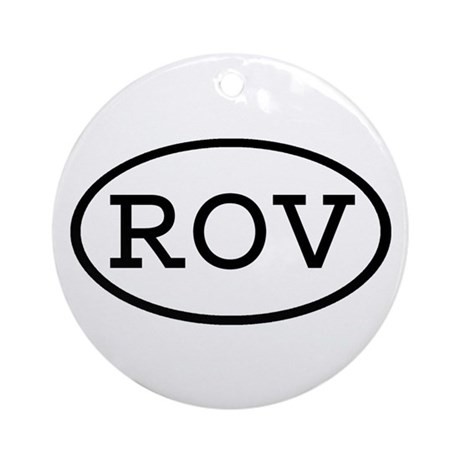 ROV Oval Ornament (Round)