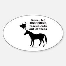 UNICORN Oval Decal