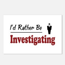 Rather Be Investigating Postcards (Package of 8)